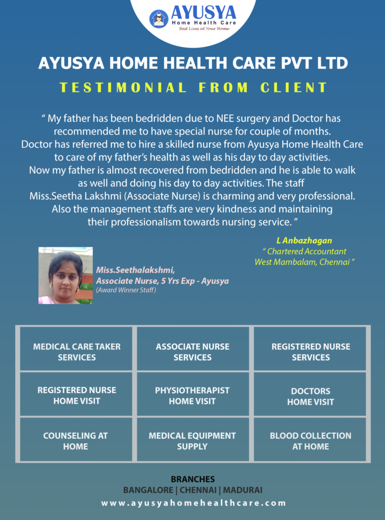 Ayusya Home Health Care Pvt Ltd-Bangalore-Chennai-Madurai
